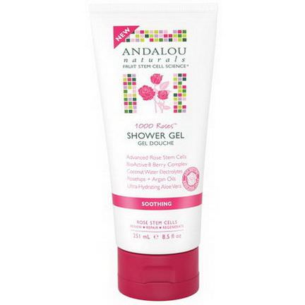Andalou Naturals, 1000 Roses, Soothing Shower Gel, Soothing 251ml