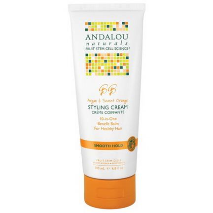 Andalou Naturals, Styling Cream, BB Argan&Sweet Orange, Smooth Hold 200ml