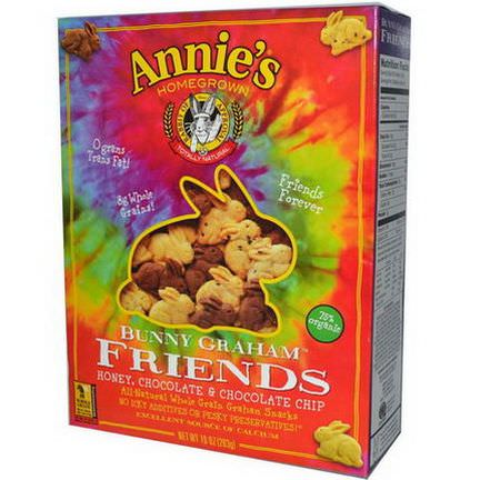 Annie's Homegrown, Bunny Graham Friends, Honey, Chocolate&Chocolate Chip 283g