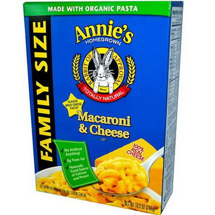 Annie's Homegrown, Macaroni&Cheese, Family Size 298g