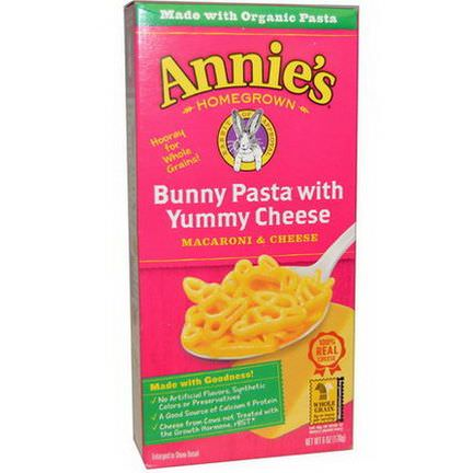 Annie's Homegrown, Macaroni and Cheese, Bunny Pasta with Yummy Cheese 170g