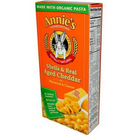Annie's Homegrown, Shells&Real Aged Cheddar, Macaroni&Cheese 170g
