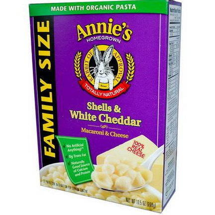 Annie's Homegrown, Shells&White Cheddar, Macaroni&Cheese, Family Size 298g