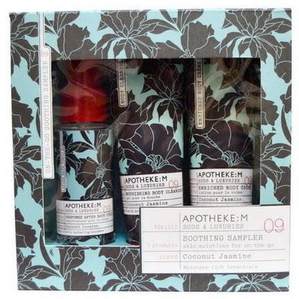 Apotheke:M by Margot Elena, Soothing Sampler Kit, Coconut Jasmine, 3 Piece Kit