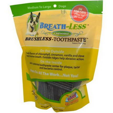 Ark Naturals, Breath-Less, Brushless Toothpaste, Chewable, Medium to Large Dogs 508g