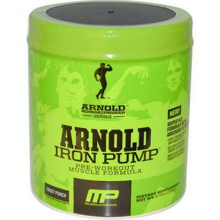 Arnold, Iron Pump, Pre-Workout Muscle Formula, Fruit Punch 180g