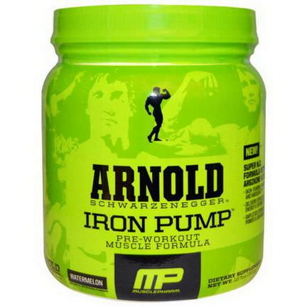 Arnold, Iron Pump, Pre-Workout Muscle Formula, Watermelon 360g