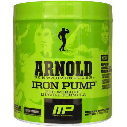 Arnold, Iron Pump, Pre-Workout Muscle Formula, Watermelon 180g