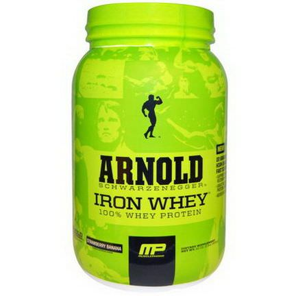 Arnold, Iron Whey, Strawberry Banana 908g