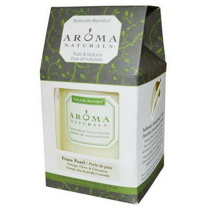 Aroma Naturals, Naturally Blended, Pillar Candle, Peace Pearl, Orange, Clove&Cinnamon, 3