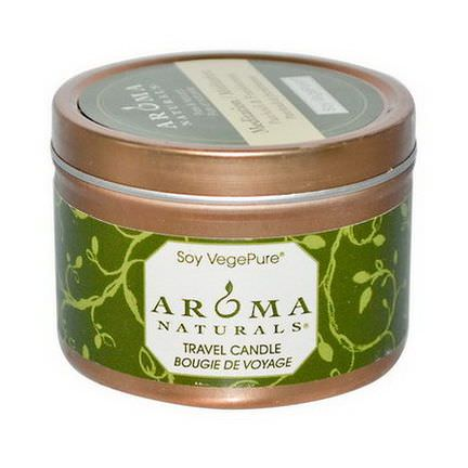 Aroma Naturals, Soy VegePure, Travel Candle, Meditation, Patchouli&Frankincense 79.38g