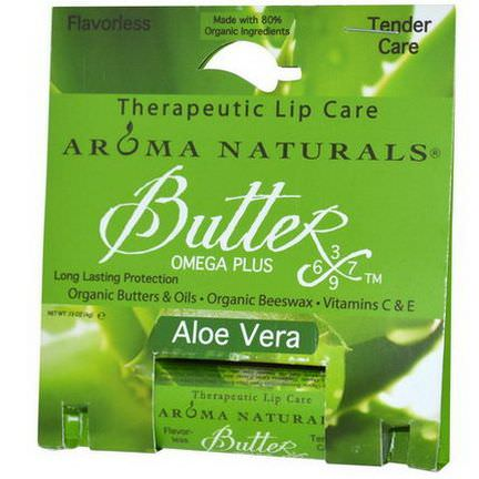 Aroma Naturals, Therapeutic Lip Care, Aloe Vera 4g
