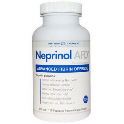 Arthur Andrew Medical, Neprinol AFD, Advanced Fibrin Defense, 500mg, 150 Capsules
