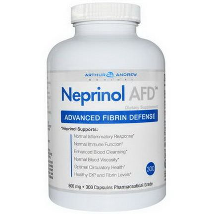Arthur Andrew Medical, Neprinol AFD, Advanced Fibrin Defense, 500mg, 300 Capsules