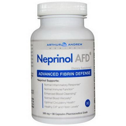 Arthur Andrew Medical, Neprinol AFD, Advanced Fibrin Defense, 500mg, 90 Capsules