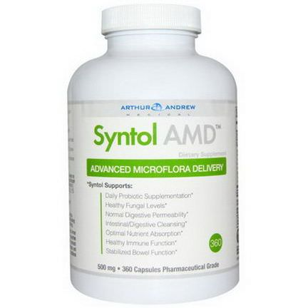 Arthur Andrew Medical, Syntol AMD, Advanced Microflora Delivery, 500mg, 360 Capsules