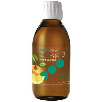 Ascenta, NutraVege, Omega-3. Juicy Citrus Flavor 200ml