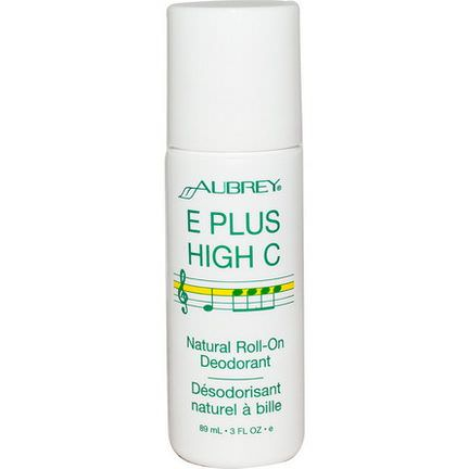 Aubrey Organics, E Plus High C, Natural Roll-On Deodorant 89ml