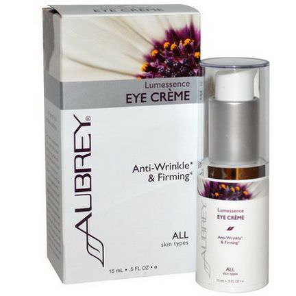 Aubrey Organics, Lumessence Eye Cream, All Skin Types 15ml