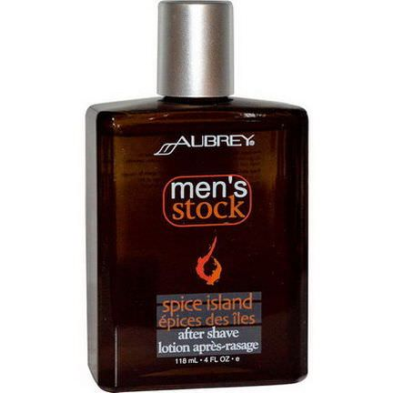 Aubrey Organics, Men's Stock, After Shave, Spice Island 118ml