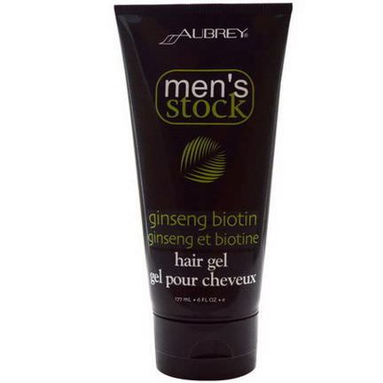 Aubrey Organics, Men's Stock, Hair Gel, Ginseng Biotin 177ml