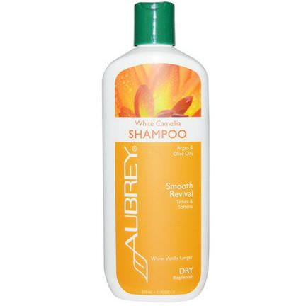 Aubrey Organics, White Camellia Shampoo, Smooth Revival, Dry Replenish 325ml