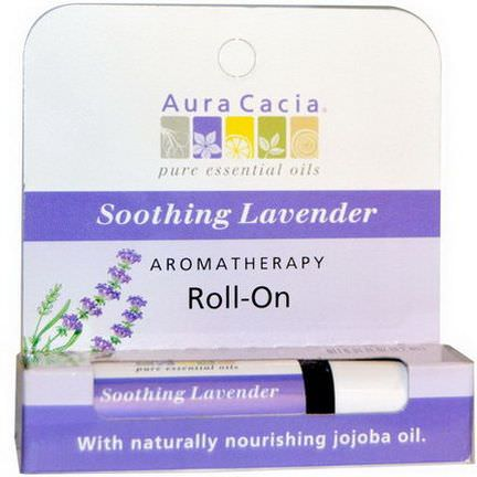 Aura Cacia, Aromatheraphy Roll-On, Soothing Lavender 9.2ml