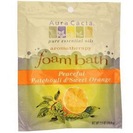 Aura Cacia, Aromatherapy Foam Bath, Peaceful Patchouli&Sweet Orange 70.9g