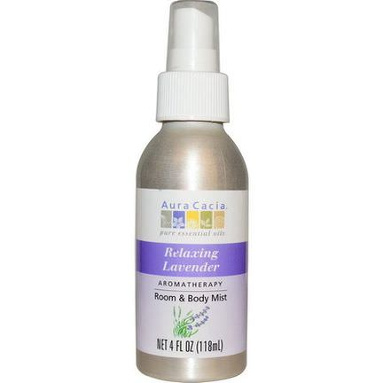 Aura Cacia, Aromatherapy Room&Body Mist, Relaxing Lavender 118ml