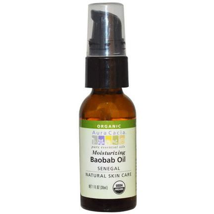 Aura Cacia, Organic Baobab Oil, Natural Skin Care 30ml