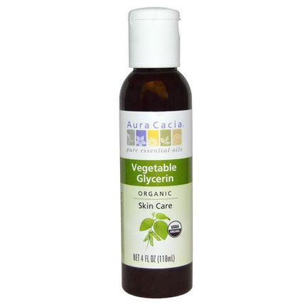 Aura Cacia, Organic, Skin Care, Vegetable Glycerin 118ml