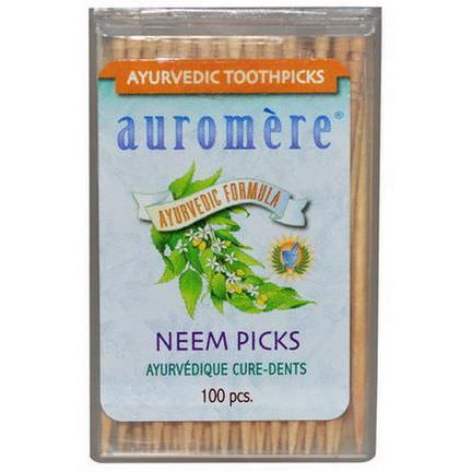Auromere, Ayurvedic Toothpicks, Neem Picks, 100 Pieces