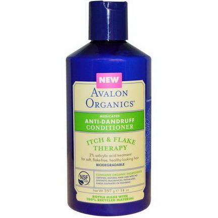 Avalon Organics, Anti-Dandruff Conditioner, Itch&Flake Therapy 397g