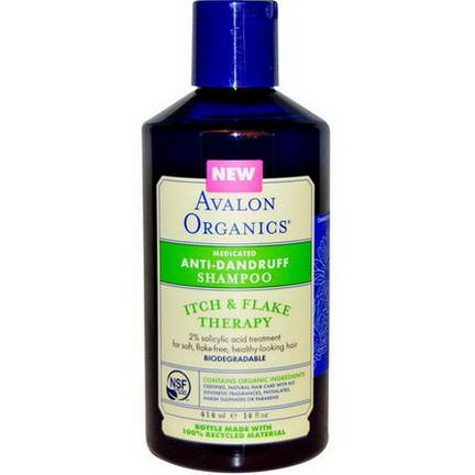 Avalon Organics, Anti-Dandruff Shampoo 414ml