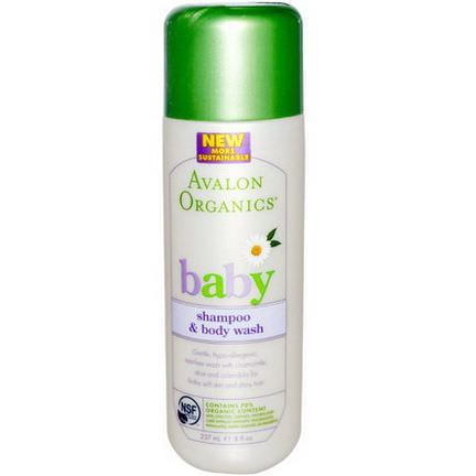 Avalon Organics, Baby, Shampoo&Body Wash 237ml