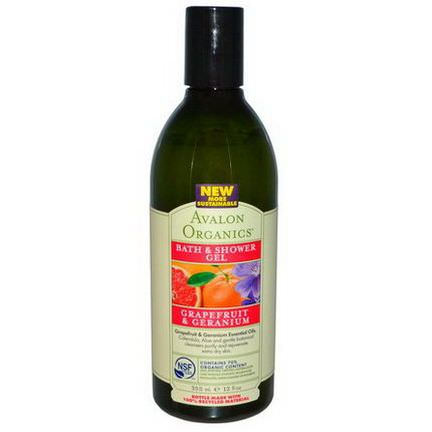 Avalon Organics, Bath&Shower Gel, Grapefruit&Geranium 355ml