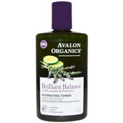 Avalon Organics, Brilliant Balance, Hydrating Toner, With Lavender&Prebiotics 237ml