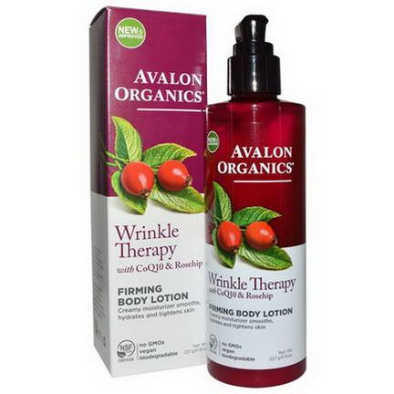 Avalon Organics, Wrinkle Therapy with CoQ10&Rosehip, Firming Body Lotion 227g