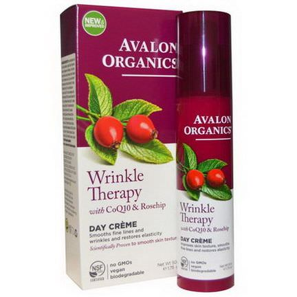 Avalon Organics, Wrinkle Therapy, with CoQ10&Rosehip, Day Creme 50g