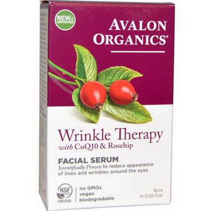 Avalon Organics, CoQ10&Rosehip Wrinkle Therapy 16ml