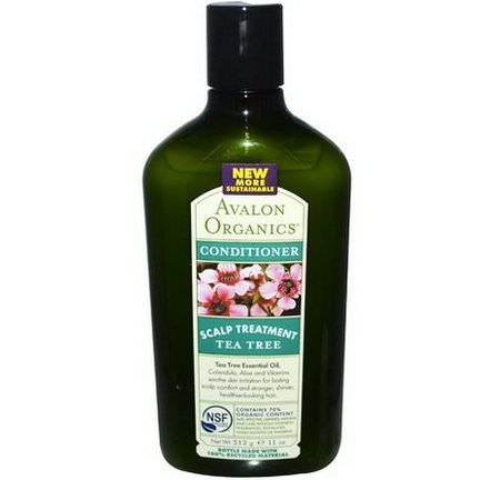 Avalon Organics, Conditioner, Scalp Treatment Tea Tree 312g