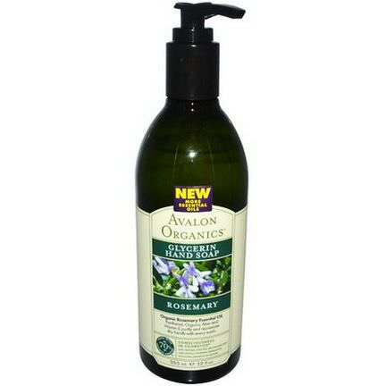 Avalon Organics, Glycerin Hand Soap, Rosemary 355ml