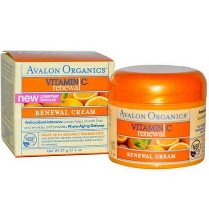 Avalon Organics, Vitamin C Renewal Cream 57g