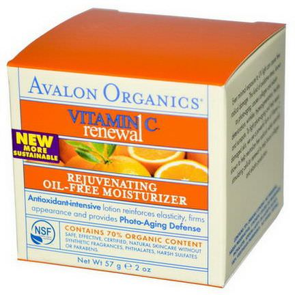 Avalon Organics, Vitamin C Renewal, Rejuvenating Oil-Free Moisturizer 57g