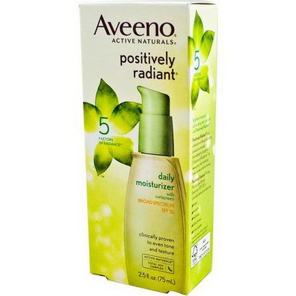 Aveeno, Active Naturals, Positively Radiant, Daily Moisturizer, SPF 30 75ml