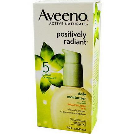 Aveeno, Active Naturals, Positively Radiant, Daily Moisturizer, with Sunscreen, SPF 15 120ml