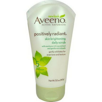 Aveeno, Active Naturals, Positively Radiant, Skin Brightening Daily Scrub 140g