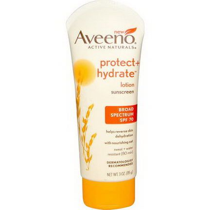Aveeno, Active Naturals, Protect Hydrate Lotion, Sunscreen, SPF 70 85g