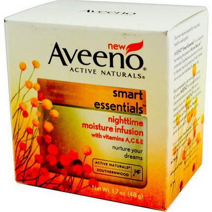 Aveeno, Active Naturals, Smart Essentials, Nighttime Moisture Infusion 48g