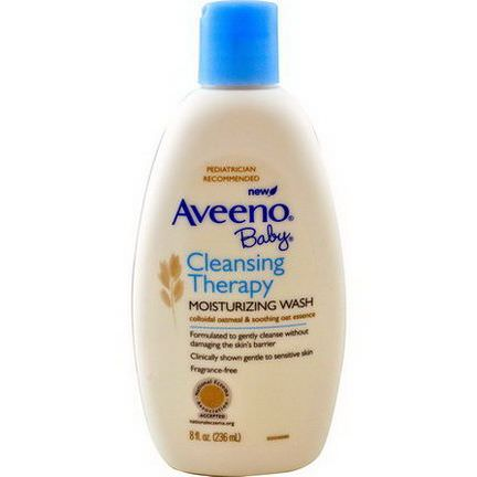 Aveeno, Baby, Cleansing Therapy Moisturizing Wash, Fragrance Free 236ml
